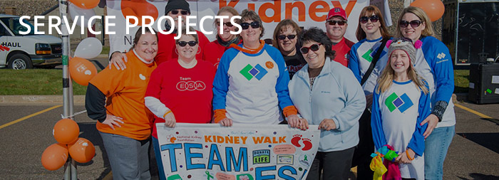 ESA members show their support at the National Kidney Foundation 5k walk